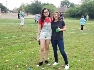 Volunteers Cami & Marian