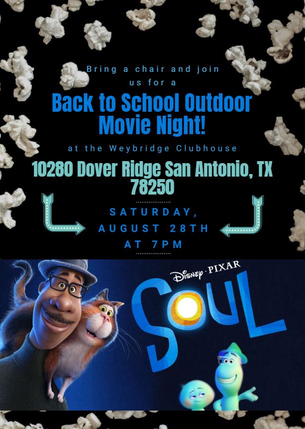 Outdoor Movie Night Flyer